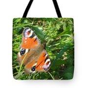Orange Flutter Tote Bag