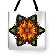 Orange Gazania IIi Flower Mandala White Tote Bag