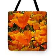 Orange Glimmer Tote Bag