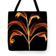 Orange Glowing Plant Tote Bag
