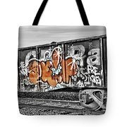 Orange Graffiti Tote Bag