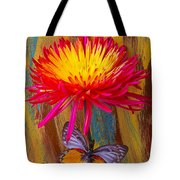 Orange Gray Butterfly On Mum Tote Bag