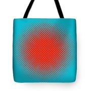 Optical Illusion - Orange On Aqua Tote Bag