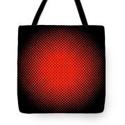 Optical Illusion - Orange On Black Tote Bag