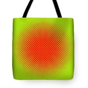 Optical Illusion - Orange On Lime Tote Bag