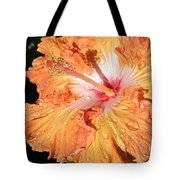 Orange Hibiscus After The Rain Tote Bag