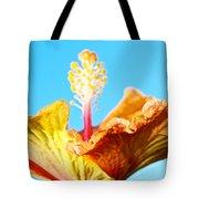 Orange Hibiscus Texture I Tote Bag