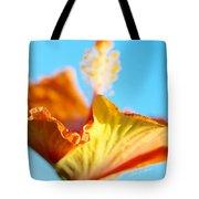 Orange Hibiscus Texture II Tote Bag