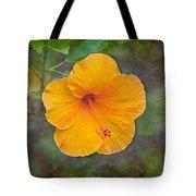 Orange Hibiscus Textured Tote Bag