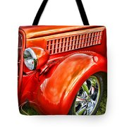Orange Hood And Fender-hdr Tote Bag