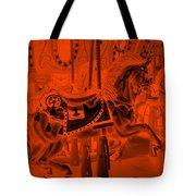 Orange Horse Tote Bag