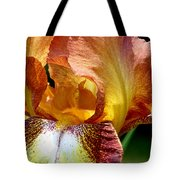Orange Iris Tote Bag