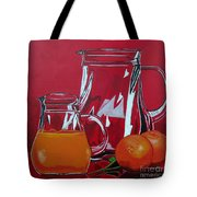 Orange Juggle Tote Bag