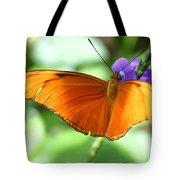 Orange Julia Butterfly Tote Bag