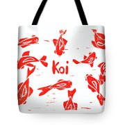 Orange Lazy Koi Tote Bag by Lynn-Marie Gildersleeve