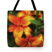 Orange Lillies Tote Bag
