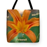 Orange Lily Birthday Tote Bag