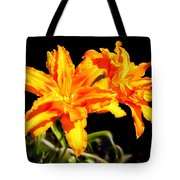 Orange Lily Twins Tote Bag