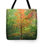 Orange Maple Tote Bag