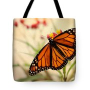 Orange Mariposa Tote Bag