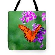 Orange Monarch Butterfly Tote Bag