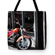 Orange Motorcycle Tote Bag