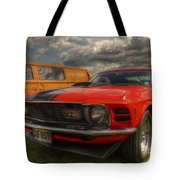 Orange Mustang Tote Bag