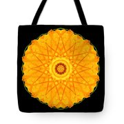 Orange Nasturtium Flower Mandala Tote Bag