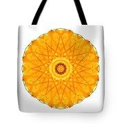Orange Nasturtium I Flower Mandala White Tote Bag