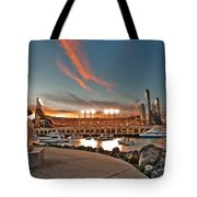 Orange October 2012 Celebrates The San Francisco Giants Tote Bag by Jorge Guerzon