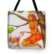 Orange Olga Tote Bag