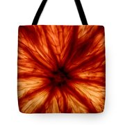 Orange On Fire Tote Bag