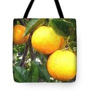 Orange On Tree Tote Bag