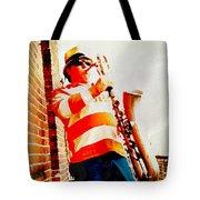 Orange On White Tote Bag