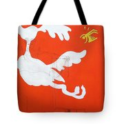 Orange Palm Springs Idyll Tote Bag