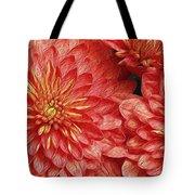Orange Petals Tote Bag