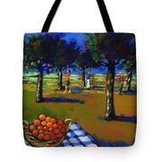Orange Picking Tote Bag