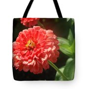 Orange Poof Tote Bag