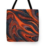 Orange Purple Blue Silk Design 1 Tote Bag
