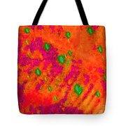 Orange Purple Tapestry Abstract Tote Bag