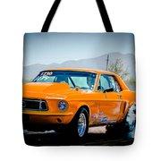 Orange Racing Mustang Tote Bag