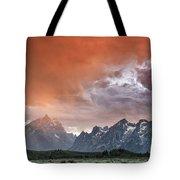 Orange Rain Tote Bag