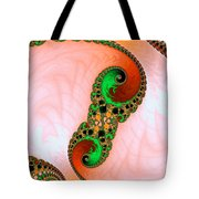 Orange Red And Green Abstract Fractal Art Tote Bag