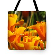 Orange Rising Tote Bag