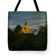 Orange Rock Among The Trees Tote Bag