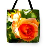 Orange Rose Bloom Tote Bag