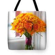 Orange Rose Wedding Bouquet Tote Bag