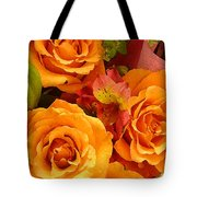 Orange Roses Tote Bag