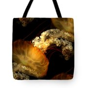 Orange Sea Nettle Tote Bag