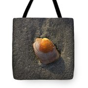 Orange Seashell Tote Bag